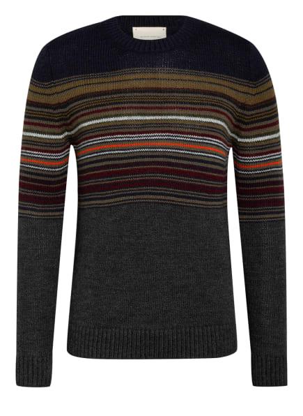 MAERZ MUENCHEN Pullover mit Alpaka, Farbe: DUNKELBLAU/ OLIV/ DUNKELROT (Bild 1)