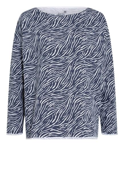Juvia Sweatshirt , Farbe: WEISS/ DUNKELBLAU (Bild 1)