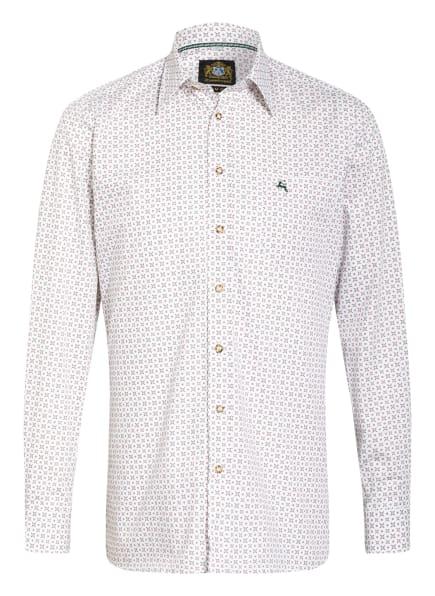 Hammerschmid Trachtenhemd Slim Fit, Farbe: WEISS/ DUNKELGRÜN/ DUNKELROT (Bild 1)