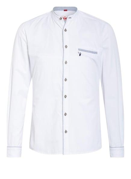 Spieth & Wensky Trachtenhemd Slim Fit mit Stehkragen , Farbe: WEISS/ DUNKELBLAU (Bild 1)