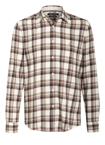 Marc O'Polo Hemd Regular Fit, Farbe: CREME/ BRAUN (Bild 1)