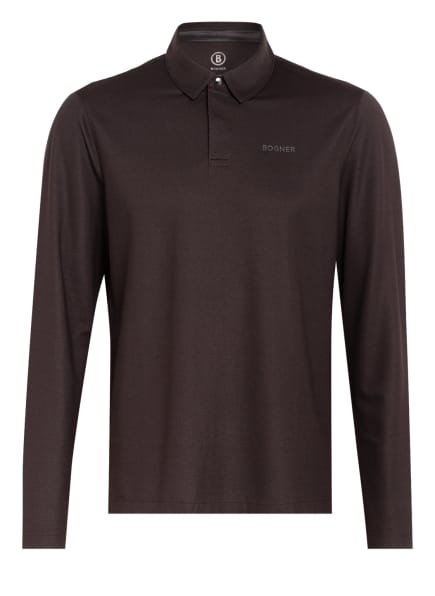 BOGNER Piqué-Poloshirt TIMON Regular Fit, Farbe: DUNKELBRAUN (Bild 1)