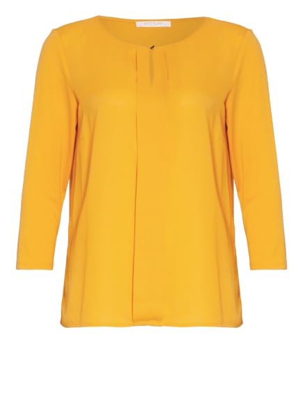 BETTY&CO Shirt mit 3/4-Arm im Materialmix, Farbe: ORANGE (Bild 1)