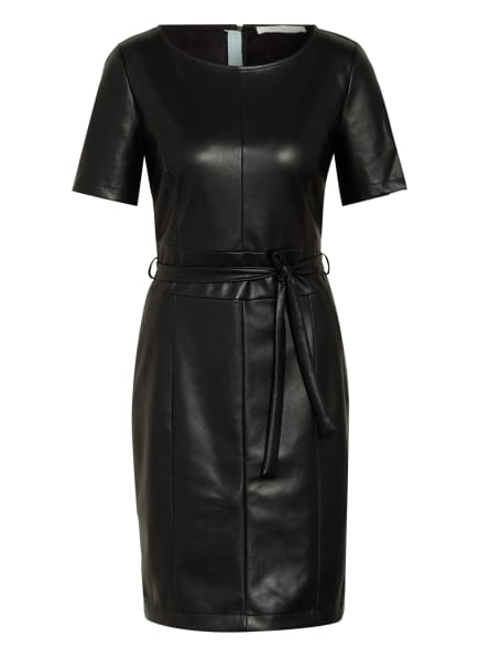 BETTY&CO Kleid in Lederoptik, Farbe: SCHWARZ (Bild 1)