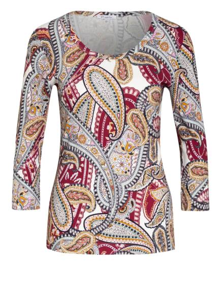 efixelle Shirt mit 3/4-Arm, Farbe: ECRU/ DUNKELROT/ ROSÉ (Bild 1)