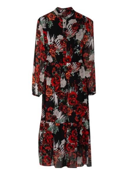Mrs & HUGS Kleid mit 3/4-Arm, Farbe: SCHWARZ/ ROT/ DUNKELGRÜN (Bild 1)
