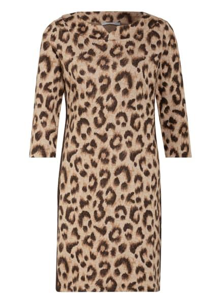 BETTY&CO Kleid mit Galonstreifen, Farbe: DUNKELBRAUN/ HELLBRAUN/ CREME (Bild 1)
