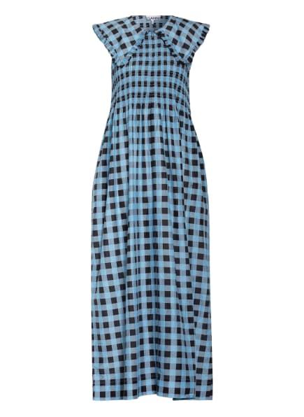 GANNI Kleid mit Seide, Farbe: BLAU/ HELLBLAU (Bild 1)