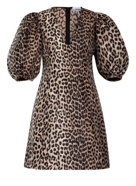 GANNI Kleid, Farbe: BEIGE/ SCHWARZ (Bild 1)