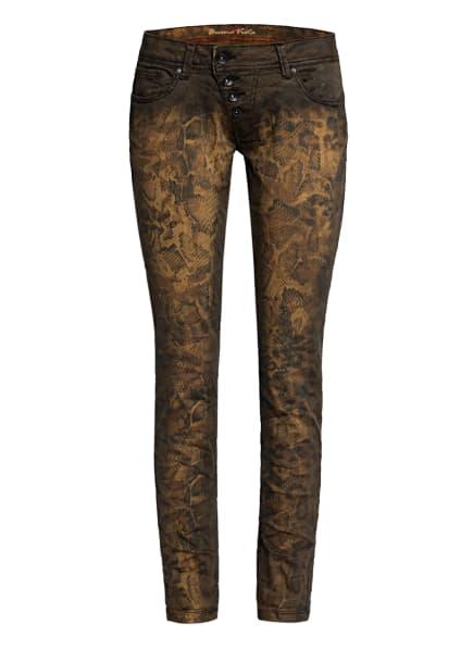 Buena Vista Skinny Jeans MALIBU STRETCH TWILL, Farbe: BRAUN/ GELB (Bild 1)