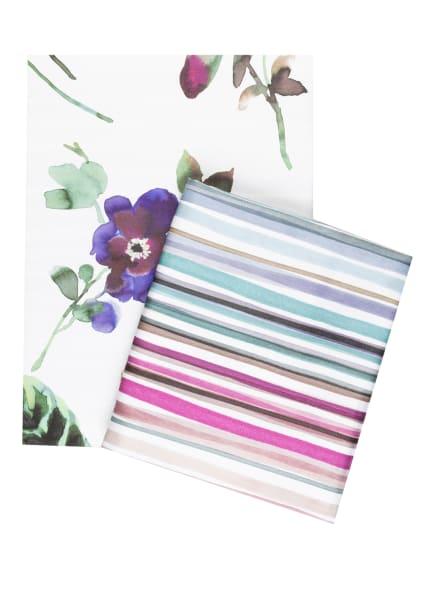 ESTELLA Bettwäsche, Farbe: WEISS/ DUNKELGRÜN/ ROSÉ (Bild 1)