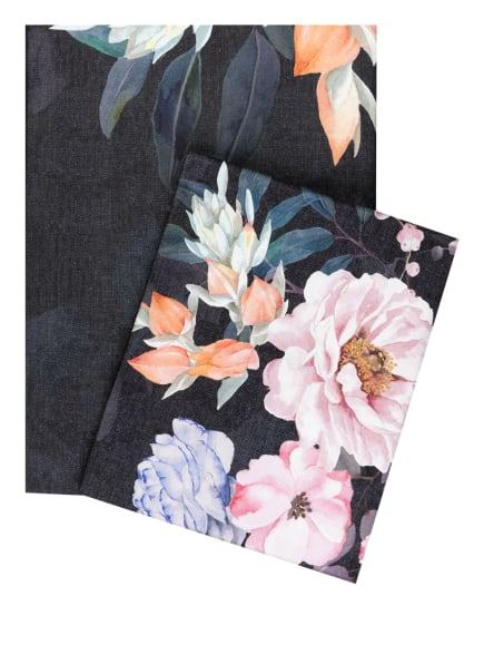 ESTELLA Bettwäsche FLOWER DREAM, Farbe: SCHWARZ/ ROSÉ/ LILA (Bild 1)