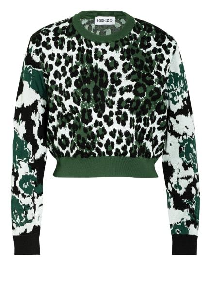 KENZO Pullover  , Farbe: DUNKELGRÜN/ WEISS/ SCHWARZ  (Bild 1)