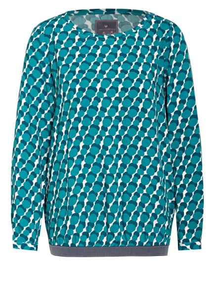LIEBLINGSSTÜCK Blusenshirt EDITE, Farbe: GRÜN/ WEISS (Bild 1)