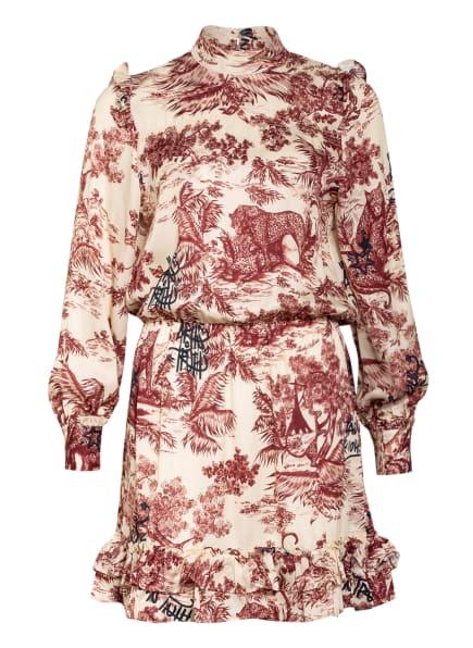 ZADIG&VOLTAIRE Kleid ROCKET JOUY mit Rüschenbesatz, Farbe: CREME/ DUNKELROT (Bild 1)