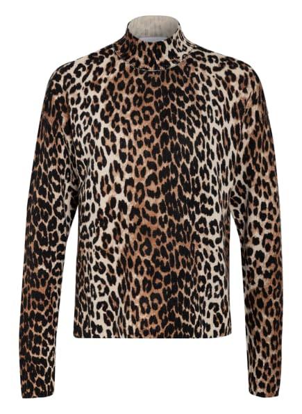 GANNI Pullover, Farbe: SCHWARZ/ HELLBRAUN/ ECRU (Bild 1)