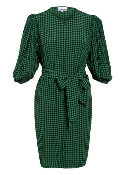 GANNI Kleid mit 3/4-Arm, Farbe: GRÜN/ SCHWARZ (Bild 1)
