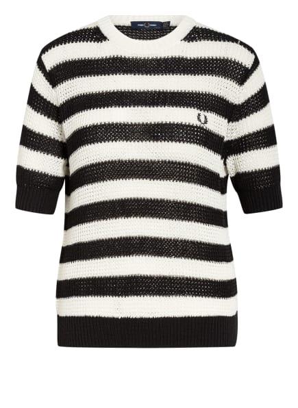 FRED PERRY Strickshirt , Farbe: WEISS/ SCHWARZ (Bild 1)