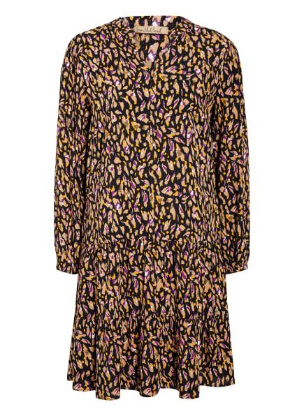 Smith&Soul Kleid mit Volantbesatz, Farbe: SCHWARZ/ HELLBRAUN/ LILA (Bild 1)