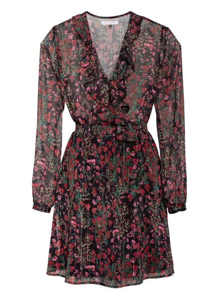 Freebird Kleid in Wickeloptik mit Glitzergarn, Farbe: ROT/ SCHWARZ/ GRÜN (Bild 1)