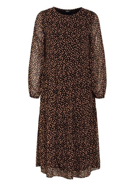 s.Oliver BLACK LABEL Kleid, Farbe: SCHWARZ/ HELLBRAUN (Bild 1)