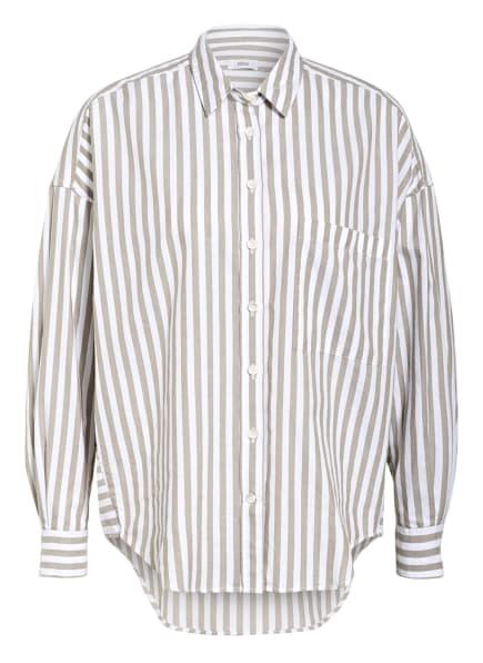 CLOSED Oversized-Hemdbluse, Farbe: WEISS/ TAUPE (Bild 1)