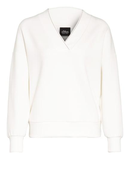 s.Oliver BLACK LABEL Sweatshirt mit Schmucksteinbesatz, Farbe: WEISS (Bild 1)