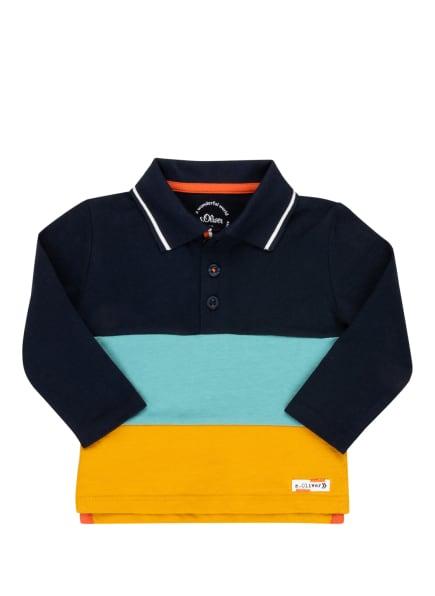 s.Oliver Jersey-Poloshirt, Farbe: BLAU/ DUNKELGELB (Bild 1)
