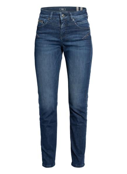 MAC Skinny Jeans mit Schmucksteinbesatz, Farbe: D562 mid blue authentic (Bild 1)