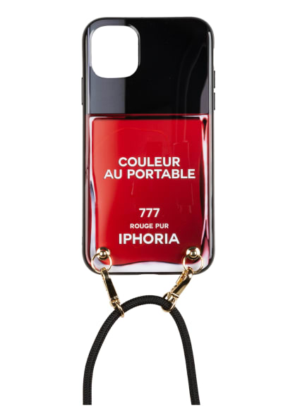 IPHORIA Smartphone-Hülle COLOEUR AU PORTABLE VERNIS ROUGE PUR , Farbe: SCHWARZ/ ROT/ WEISS (Bild 1)