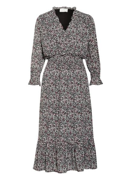 NEO NOIR Kleid JENNA mit Rüschenbesatz , Farbe: SCHWARZ/ GRAU/ ALTROSA (Bild 1)