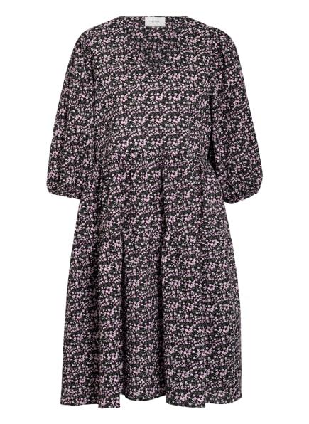 NEO NOIR Kleid mit 3/4-Arm, Farbe: SCHWARZ/ GRÜN/ ROSA (Bild 1)