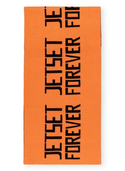 JET SET Schal ALL STAR STATEMENT , Farbe: ORANGE/ SCHWARZ (Bild 1)