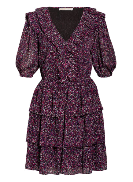 MICHAEL KORS Kleid ZINNIA mit 3/4-Arm und Volants, Farbe: LILA/ PINK (Bild 1)