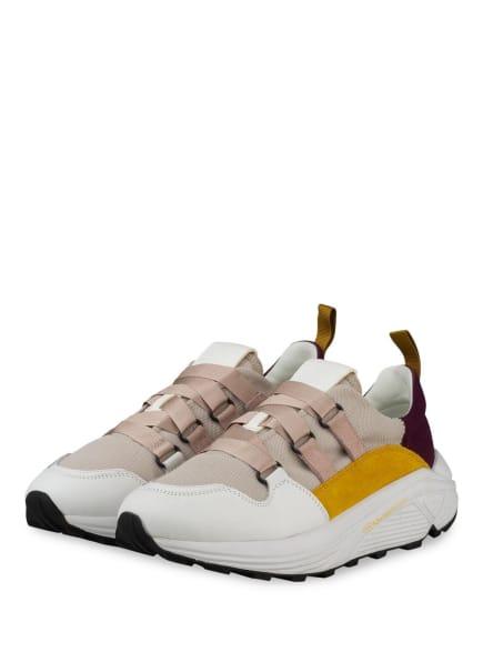 CLOSED Plateau-Sneaker SPICY , Farbe: BEIGE/ WEISS/ DUNKELROT (Bild 1)