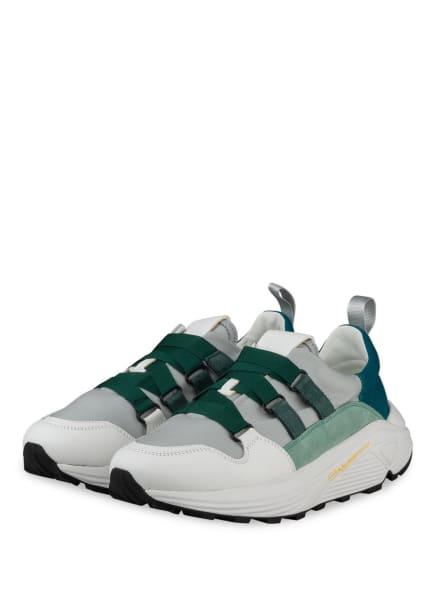 CLOSED Plateau-Sneaker SPICY , Farbe: WEISS/ GRÜN/ HELLGRAU (Bild 1)