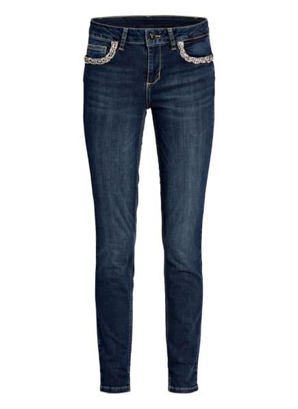 LIU JO Skinny Jeans mit Schmucksteinbesatz, Farbe: 78096 Den.Blue arboga wash (Bild 1)