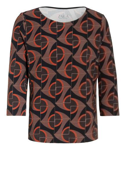 ZAÍDA Shirt mit 3/4-Arm , Farbe: BRAUN/ SCHWARZ/ ROT (Bild 1)