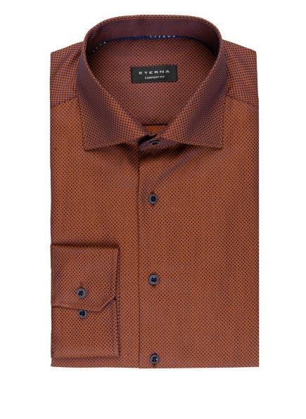 ETERNA Hemd Comfort Fit, Farbe: DUNKELORANGE/ DUNKELBLAU (Bild 1)