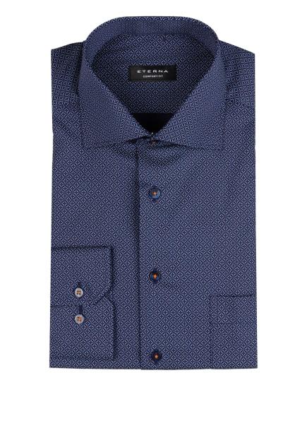 ETERNA Hemd Comfort Fit, Farbe: DUNKELBLAU/ HELLBLAU/ ORANGE (Bild 1)