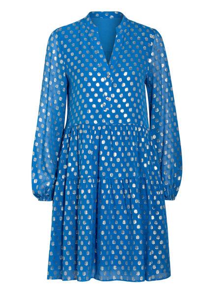 Mrs & HUGS Kleid mit Glitzergarn, Farbe: BLAU/ GOLD (Bild 1)