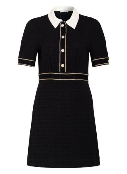 sandro Tweed-Kleid, Farbe: SCHWARZ/ GOLD (Bild 1)