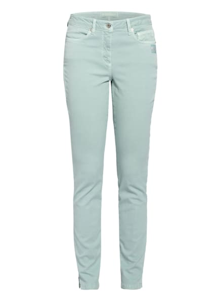 MARC AUREL Skinny Jeans mit Schmucksteinbesatz, Farbe: MINT (Bild 1)