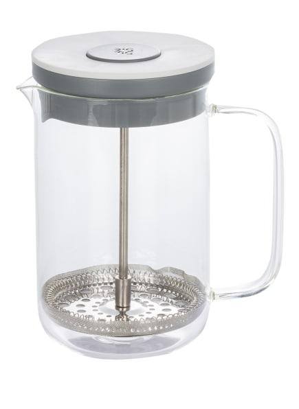 RIG TIG Kaffee- und Teezubereiter BREW-IT mit Pressfilter, Farbe: WEISS/ GRAU (Bild 1)