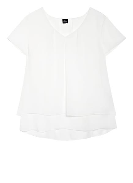 s.Oliver BLACK LABEL Blusenshirt , Farbe: WEISS (Bild 1)