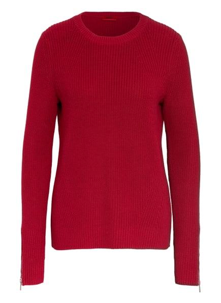 HUGO Pullover SAEED, Farbe: DUNKELROT (Bild 1)