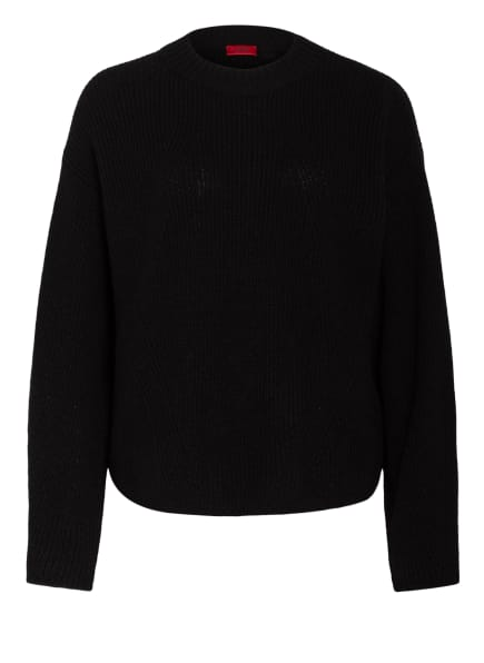 HUGO Oversized-Pullover SABAHAT , Farbe: SCHWARZ (Bild 1)