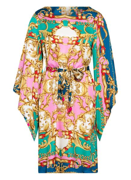 Anni Carlsson Kleid CLARINS SHORT mit 3/4-Arm , Farbe: GRÜN/ ROSA (Bild 1)