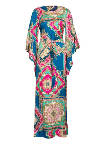 Anni Carlsson Kleid CLARINS LONG mit 3/4-Arm , Farbe: PETROL/ PINK (Bild 1)