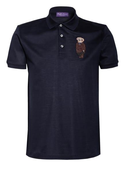 RALPH LAUREN PURPLE LABEL Piqué-Poloshirt Custom Slim Fit, Farbe: DUNKELBLAU (Bild 1)